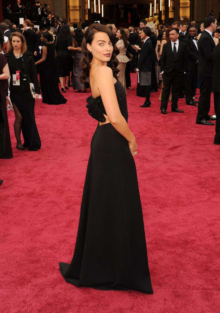 Wearing a Saint Laurent dress and Forevermark jewels to the Oscars in 2014.