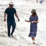 Katie Holmes and Jamie Foxx Hold Hands on the Beach
