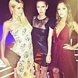 Paris Hilton attended the de Grisogono party in Cannes with her sister, Nicky, and their cousin Farrah.  Source: Twitter user ParisHilton