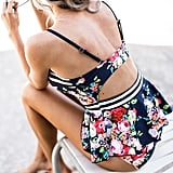 Farktop Retro Floral Swimsuit