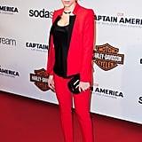 Scarlett Johansson at the Paris Premiere of Captain America
