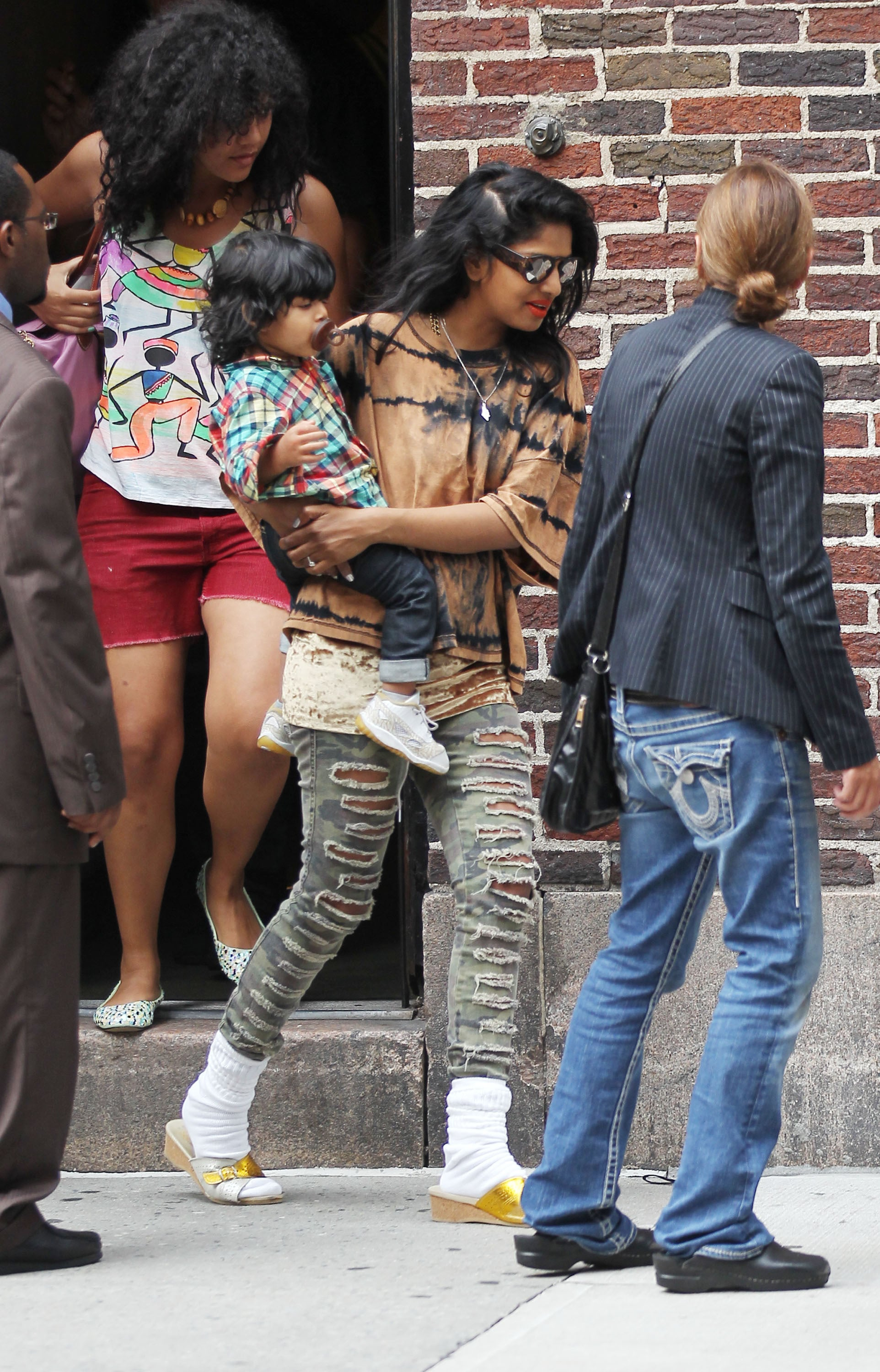 J And M Auto >> Pictures of M.I.A. With Ben Bronfman in NYC With Baby ...