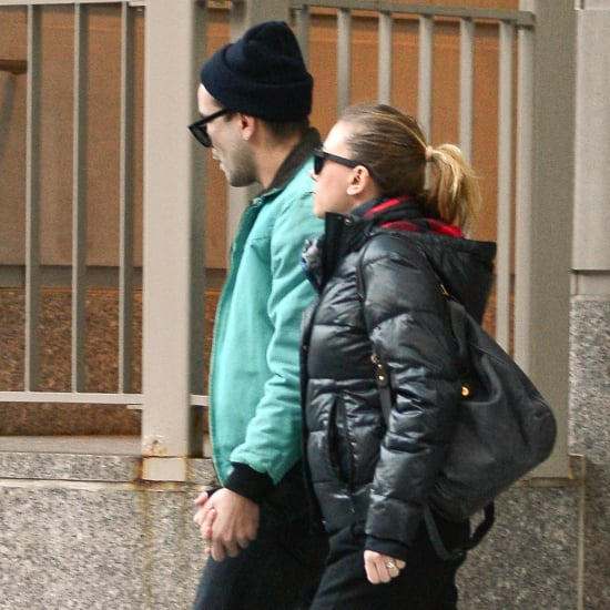 Scarlett Johansson Walking to a Tattoo Parlor   Pictures