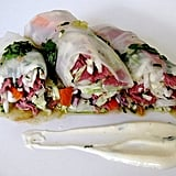 This YumSugar recipe for roast beef summer rolls offers a heartier twist on a classic Vietnamese spring roll. Make the recipe healthier by swapping out the mayonnaise for Greek yogurt and using lean turkey as the protein source.