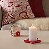 Vinterfest Red Star Candle Dish