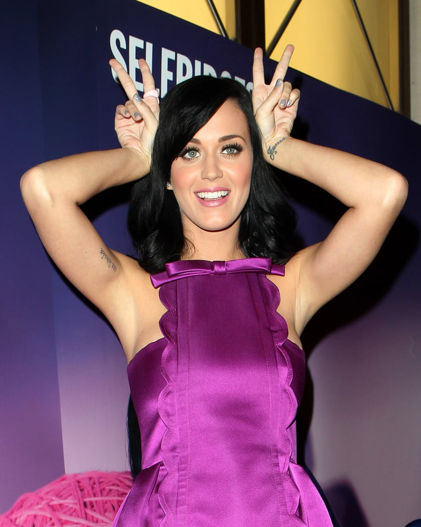 Katy Perry Promoting her Fragrance Purr in London