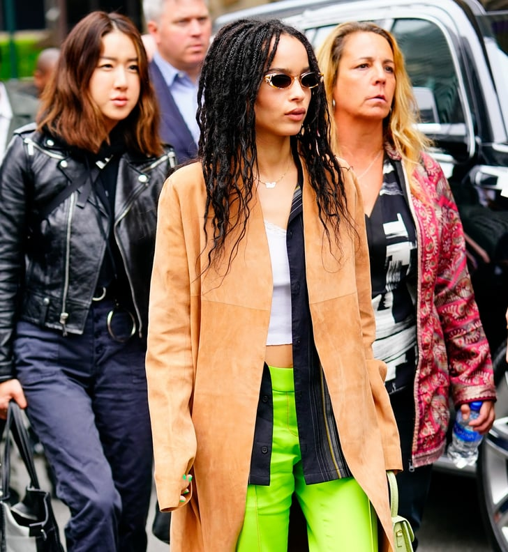 Zoe Kravitz Fashion: Zoe Kravitz's Green Pants In NYC 2019