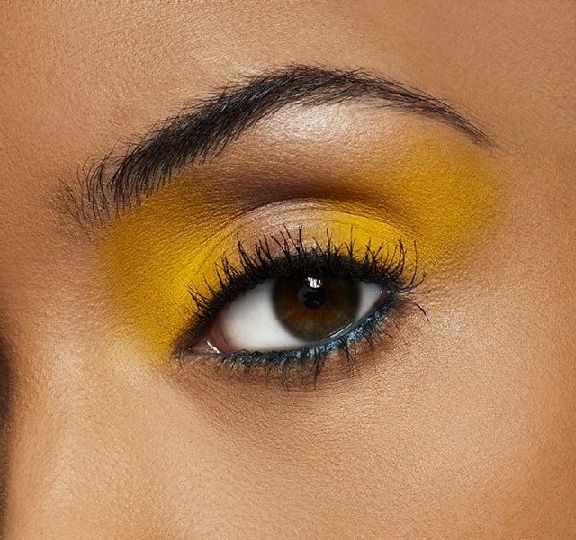 Buy: MAC Cosmetics Chrome Yellow Single Eyeshadow Swatch