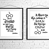 Dumbledore Quote Prints