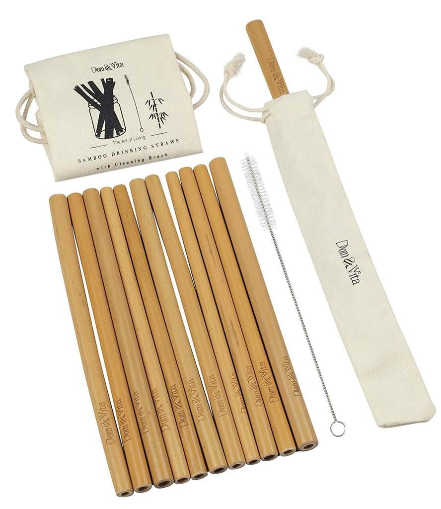 Dom and Vita Organic Reusable Bamboo Drinking Straws