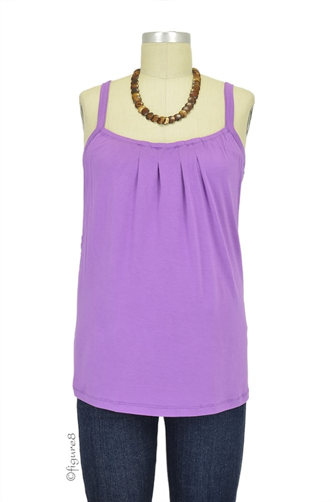 Keep cool with the Ripe Maternity Camilla Summer nursing cami ($64). Its pretty purple color gives way to a front neckline that features a hidden slit.