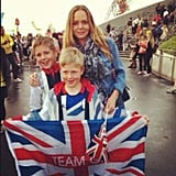 Stella McCartney posed with her kids at the Olympics. Source: Twitter user stella_mccartney