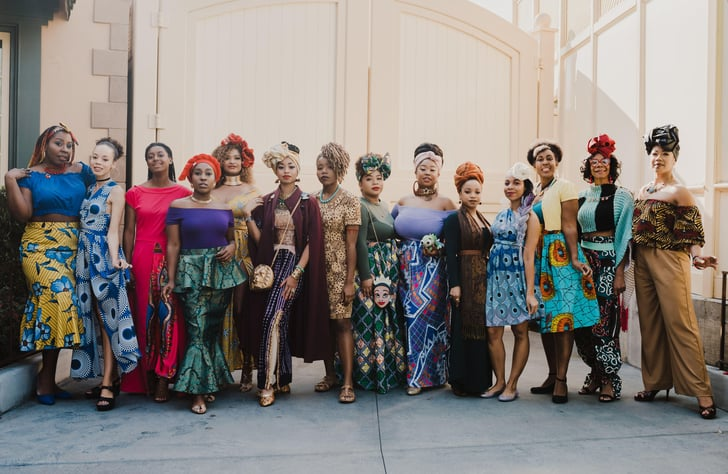 Women Dress Up as Disney Princesses in African Prints