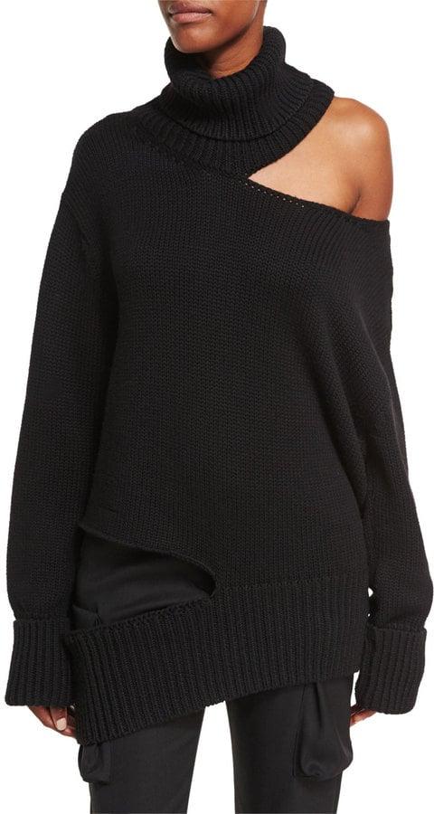 Monse Cutout Knit Turtleneck Sweater  5a2a31852