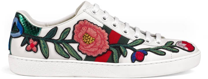Gucci Ace Embroidered Low-Top Sneakers ($695) make a statement.