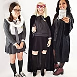 Moaning Myrtle, Luna Lovegood, and Hermione as Bellatrix Lestrange From Harry Potter