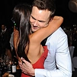 Joel McHale shared a hug with Nina Dobrev at the Governors Ball.
