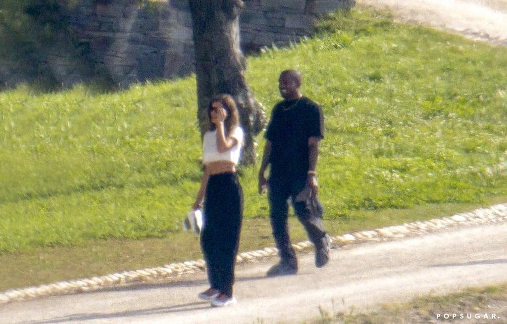 June 2021: Irina Shayk and Kanye West Enjoy a Getaway in France
