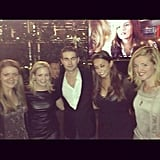 Chace Crawford posed with ladies at the party.  Source: Facebook user Chace Crawford