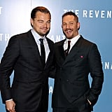 With Leonardo DiCaprio at The Revenant's London premiere in 2016.