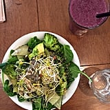 Can I get a kale yeah? Just one of these salads will make you feel like a lean, mean green machine. And the smoothies are pretty refreshing, too.