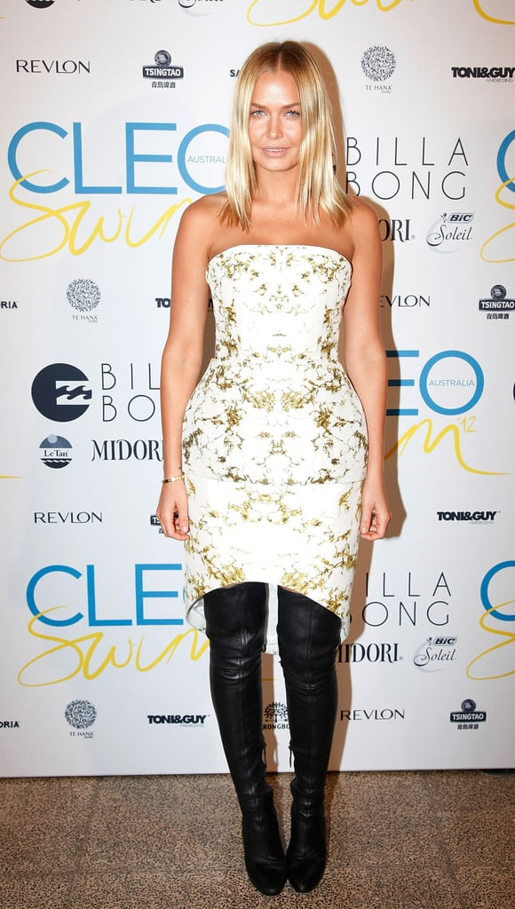 Lara Bingle added a healthy dose of sex appeal to the annual CLEO Swim Party on Tuesday November 13. Lara was the guest of honour after she fronted the cover of the famed swimsuit issue.