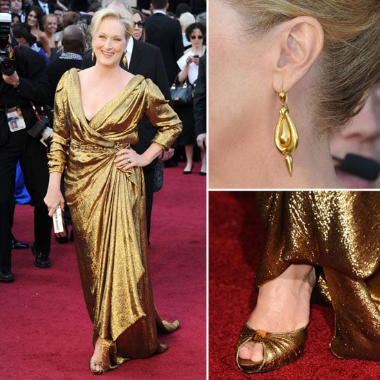 Meryl Streep Sets the Gold Standard in Draped Lanvin at the 2012 Oscars: Gorgeous!