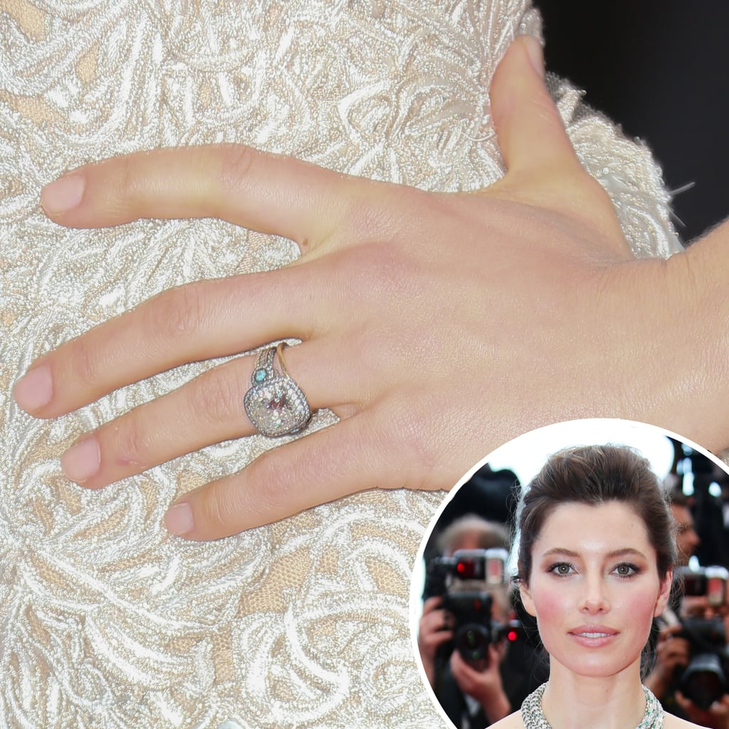 Jessica Biel opted for a soft petal-pink manicure at the premiere of Inside Llewyn Davis.