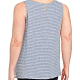 Lord & Taylor Plus Striped Linen Tank Top