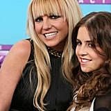 Britney Spears smiled with Carly Rose Sonenclar.