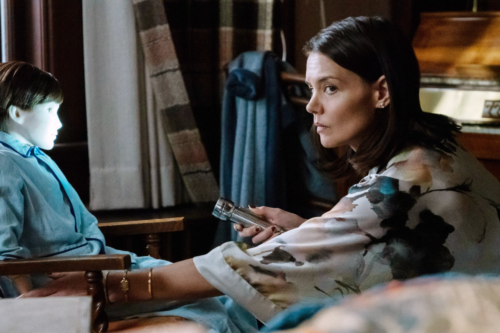 BRAHMS: THE BOY II, from left: Brahms, Katie Holmes, 2020. photo: David Bukach /  STX Films / courtesy Everett Collection