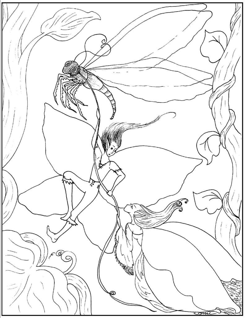 Fairy Fantasy | Free Coloring Book Printables | POPSUGAR Smart ...