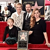 Amy Adams and Her Family at Hollywood Walk of Fame Ceremony