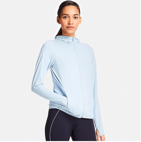 85b3fb8e Airism UV Cut Mesh Full-Zip Hoodie | Uniqlo Workout Clothes ...