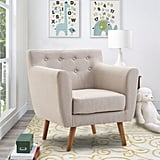 Gymax Arm Chair Tufted Upholstered Chair