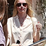 Kate Bosworth stopped for lunch at M Cafe in LA.
