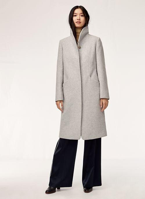 Wilfred Cocoon Long Wool Coat