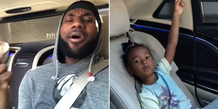 Please Direct Your Attention to LeBron James Singing Frozen With His 3-Year-Old ...