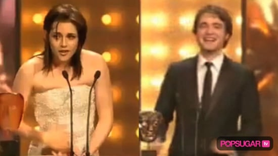 Robert Pattinson at the BAFTA Awards and Kristen Stewart at the BAFTA Awards 2010-02-22 10:17:38