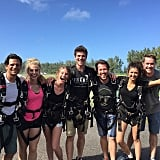 """""""After... Survived and ready to take on 2016! #HappyHawaii🌺 #Skydiving #JumpingIntoTheNewYear"""""""