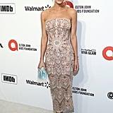 Hannah Jeter at the 2020 Elton John AIDS Foundation Academy Oscars Party