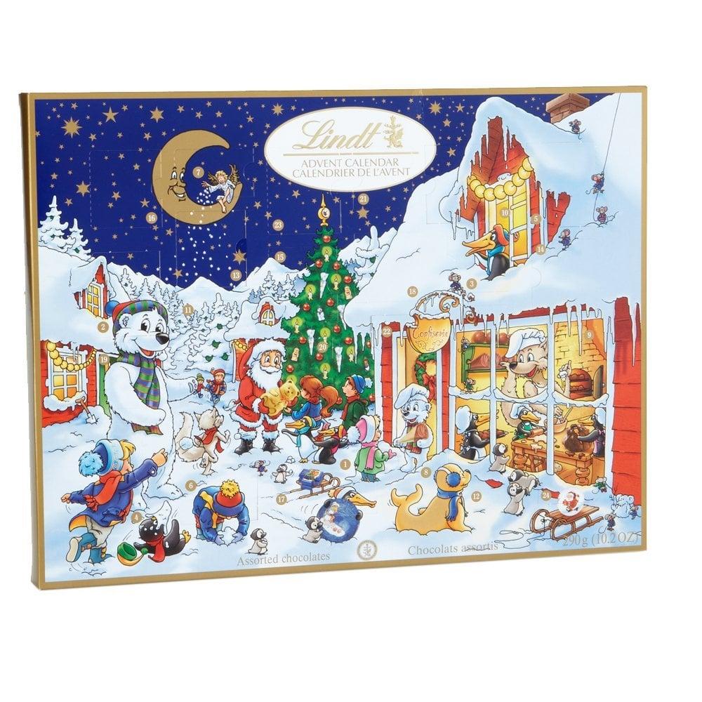 Christmas Calendar Chocolate : Lindt chocolate holiday advent calendar edible