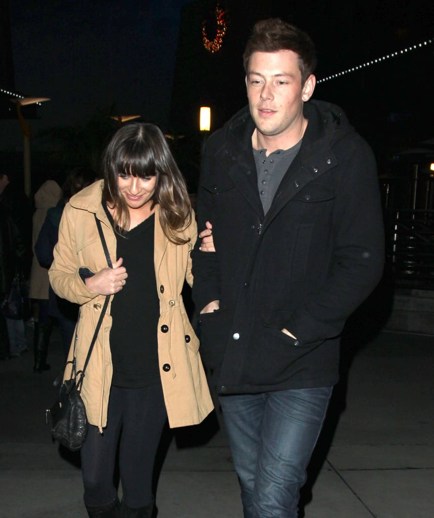 Lea Michele and Cory Monteith went to see a movie in Hollywood.