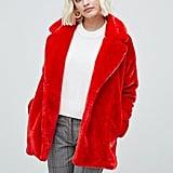 Monki Faux Fur Jacket