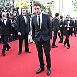 Robert Pattinson stepped onto the red carpet for girlfriend Kristen Stewart's On the Road premiere at the Cannes Film Festival.