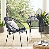 Corvus Sarcelles Woven Wicker Patio Chair Set