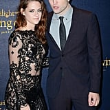 Kristen Stewart Black Lace Jumpsuit on Breaking Dawn Carpet