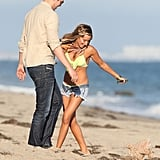 Ashley Tisdale and her boyfriend Scott Speer celebrated her birthday on the beach in Malibu.