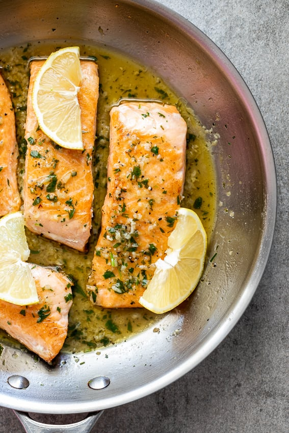 White Wine Garlic Salmon