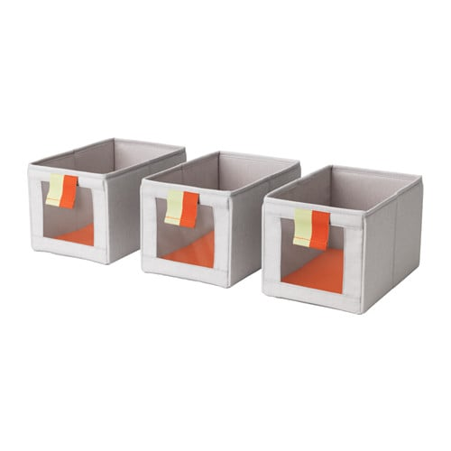 Släkting Box in Gray and Orange ($10 for set of 3)